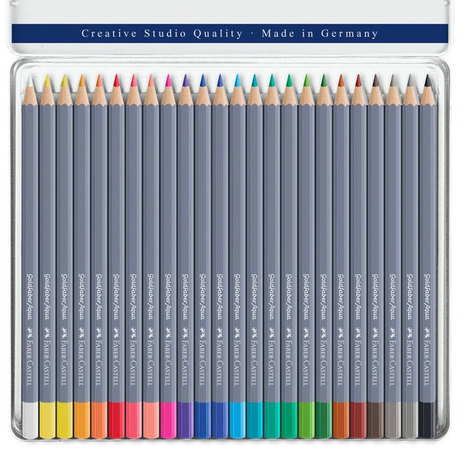 24 crayons de couleur aquarellables GoldFaber Aqua