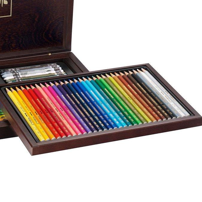 Coffret cadeau de 30 crayons Prismalo et 40 pastels Neocolor II