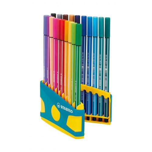 20 feutres Colorparade Pen 68 - boite turquoise