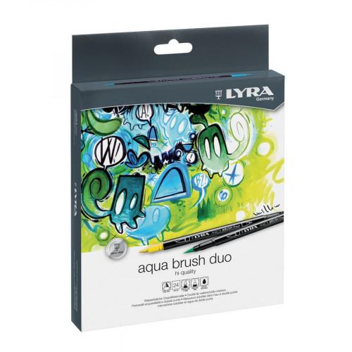 Feutres pinceaux Aqua Brush Duo - 24 pcs