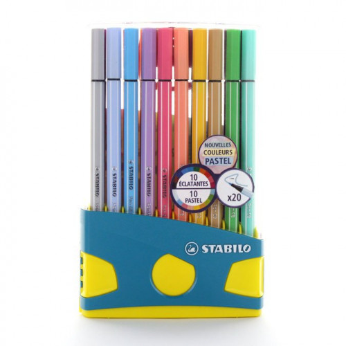 20 feutres Colorparade Pen 68 dont 10 pastels