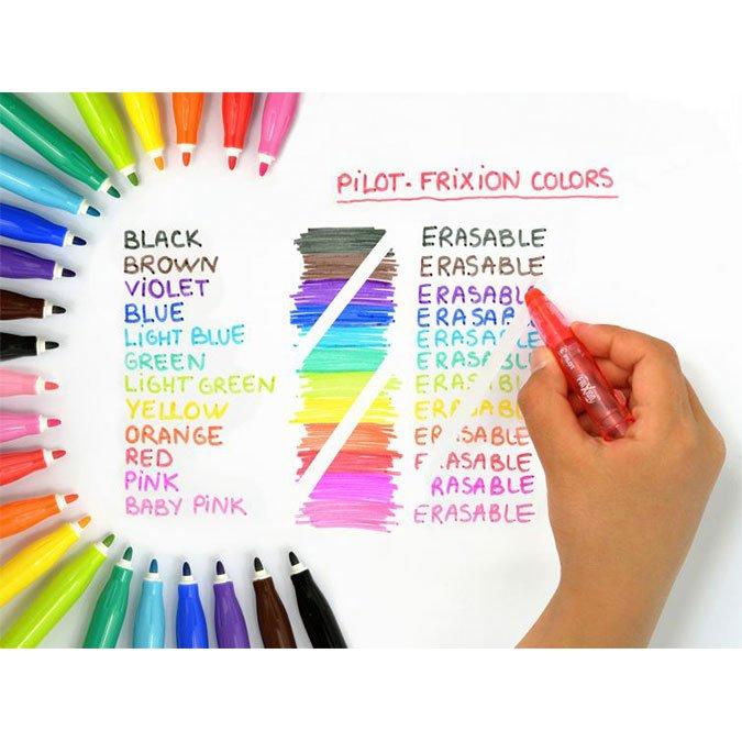 6 feutres effaçables Frixion Colors