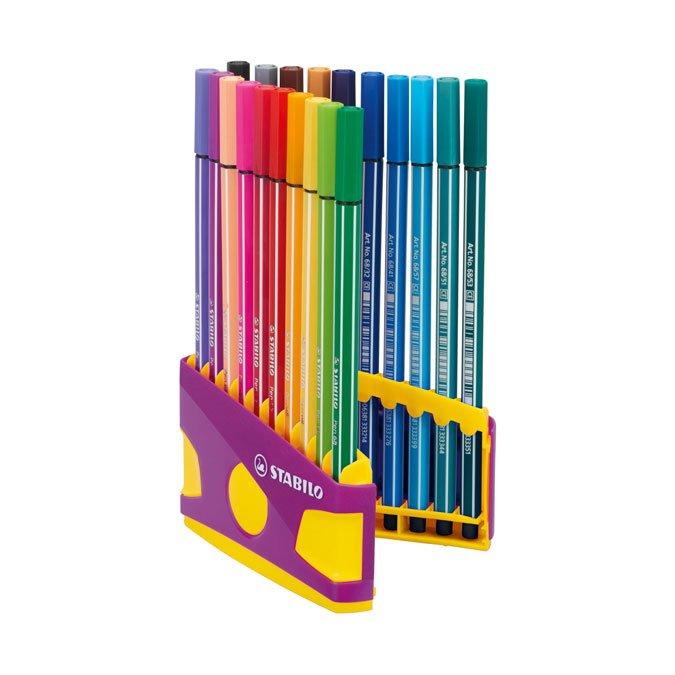 20 feutres Colorparade Pen 68 - Boite lilas