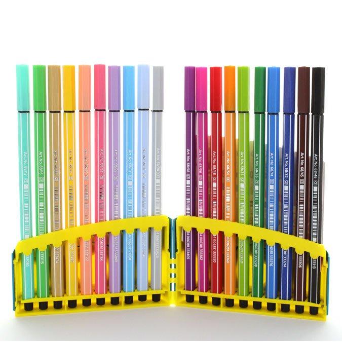 20 feutres Colorparade Pen 68 dont 10 pastels
