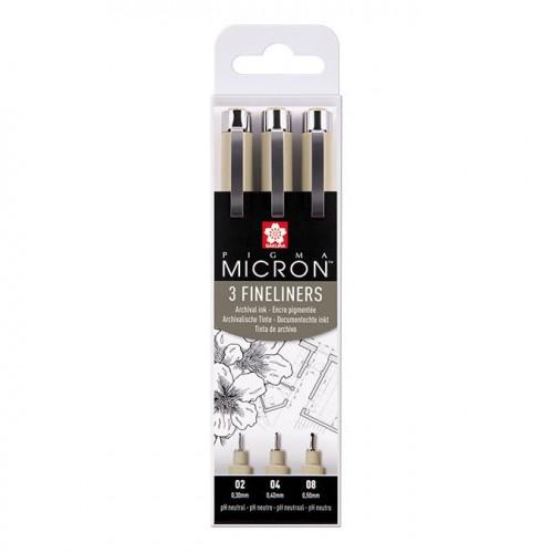 3 feutres calibrés Pigma Micron Fineliners - Noir