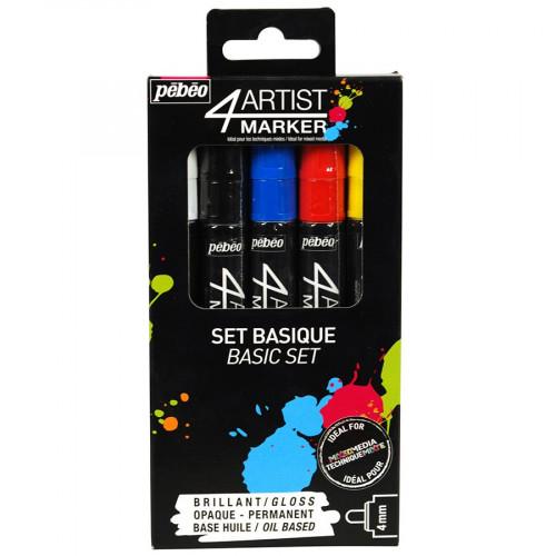4Artist Marker - Set Basique - 5 marqueurs (4 mm)