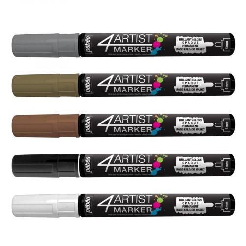 4Artist Marker  - Set Métallique - 5 marqueurs (4 mm)