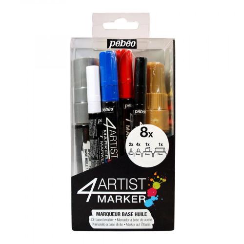 4Artist Marker - Set de 8 marqueurs
