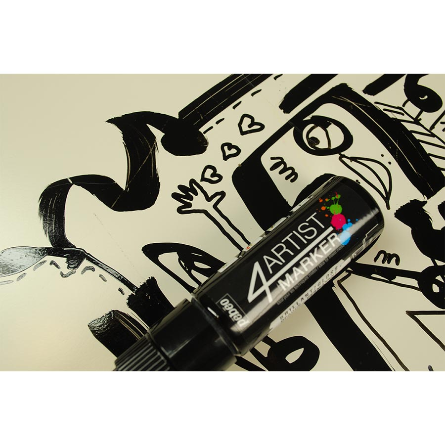 4Artist Marker - Set Duo - 2 mm et 8 mm - noir