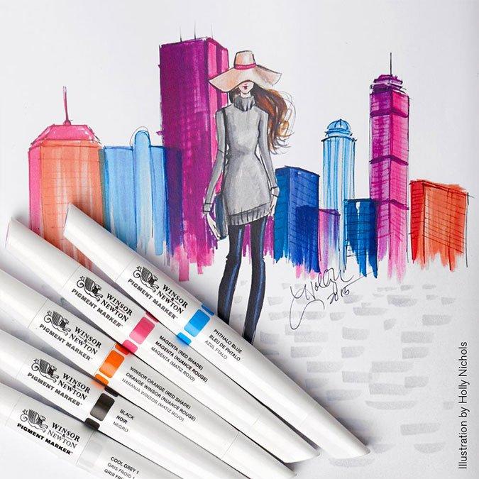 6 feutres Pigment Marker - Tons vibrants