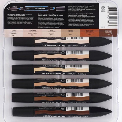 6 marqueurs Brushmarkers - Tons de chair 1