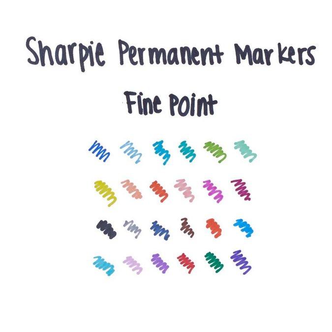 Marqueur permanent pointe fine 0,9 mm - Vert pomme