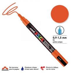 Marqueur Posca pointe conique - Trait fin 0,9-1,5 mm - Orange foncé