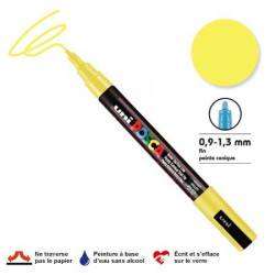 Marqueur Posca pointe conique - Trait fin 0,9-1,5 mm - Jaune