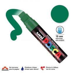 Marqueur Posca pointe biseautée - Trait extra large 15 mm - Vert