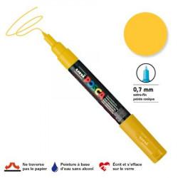 Marqueur Posca pointe conique - Trait extra fin 0.7-1 mm - Jaune paille
