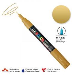 Marqueur Posca pointe conique - Trait extra fin 0.7-1 mm - Or