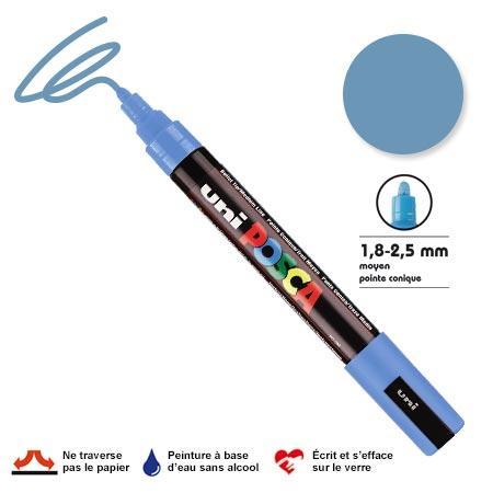 Marqueur Posca pointe conique - Trait moyen 2,5 mm - Gris ardoise