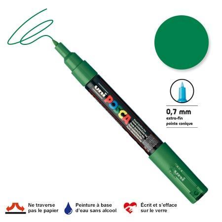 Marqueur Posca pointe conique - Trait extra fin 0.7-1 mm - Vert foncé