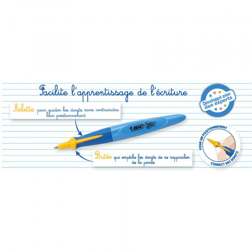Stylo bille d'apprentissage Kids Twist - bleu