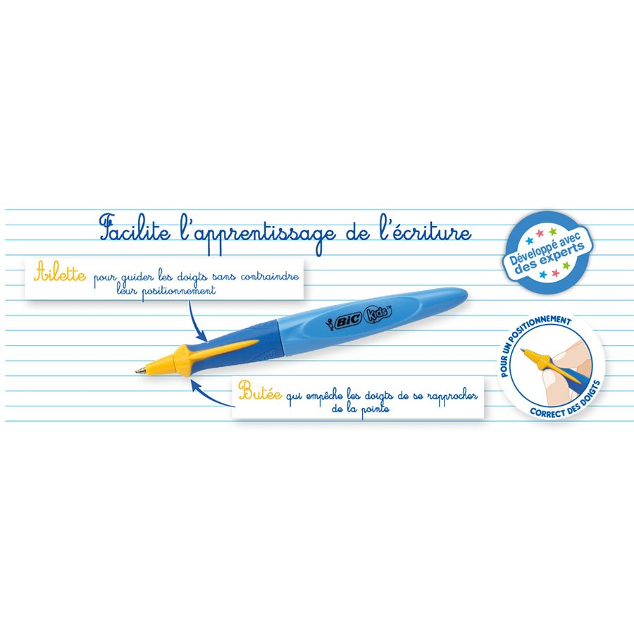 Stylo bille d'apprentissage Kids Twist - rose