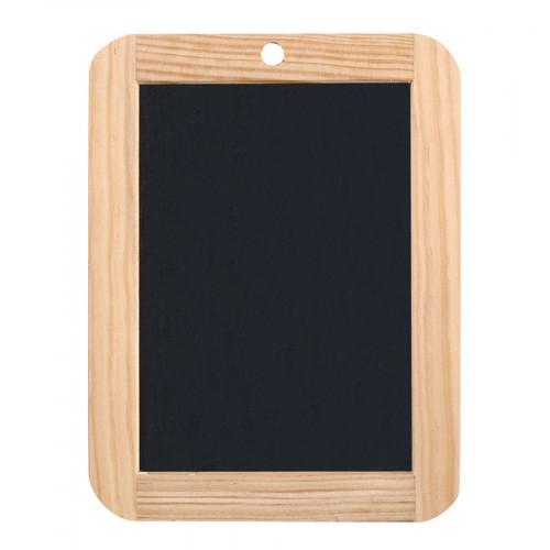 Ardoise naturelle avec cadre en bois - 18 x 26 cm