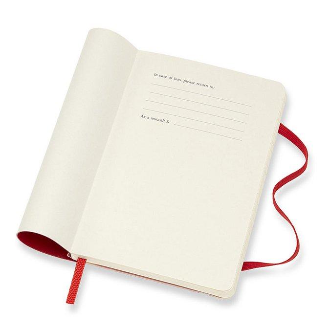 Agenda semainier 2019 - couverture souple rouge - 9 x 14 cm