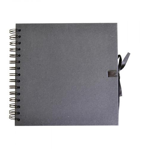 Album brut à décorer - noir - 30 x 30 cm