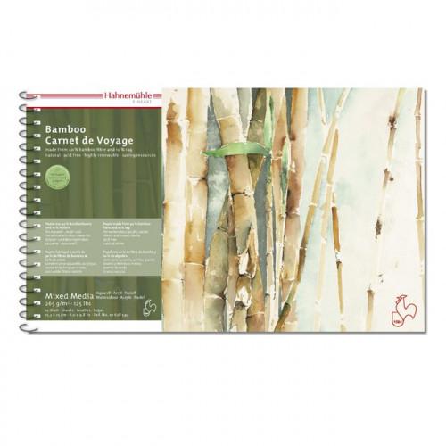 Carnet de voyage bamboo - 265 g/m² - 15,3 x 25 cm