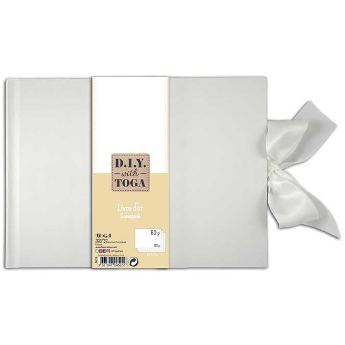 Livre d'or - blanc - 29,7 x 21 cm - 180 g/m² - 80 pages