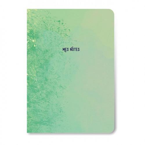 Carnet de notes vert - 64 pages lignées - A5