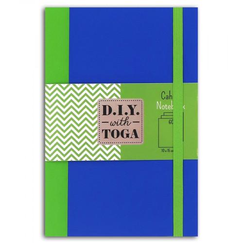Carnet bicolore vert / bleu - 10 x 15 cm