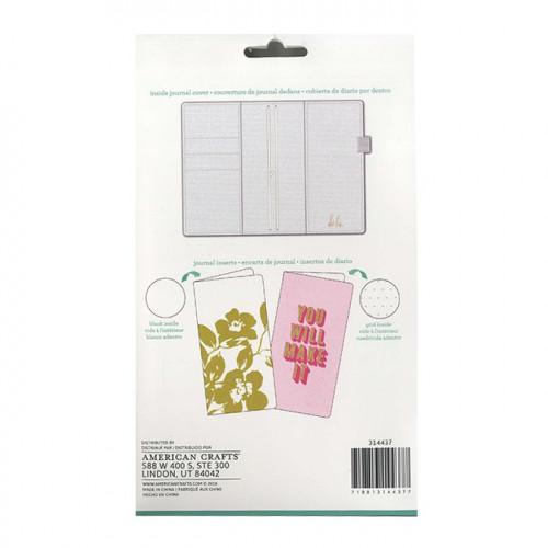 Kit Journal Studio pailleté rose - 14,5 x 22 cm