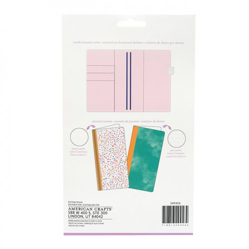 Kit Journal Studio Rayures multicolores - 14,5 x 22 cm