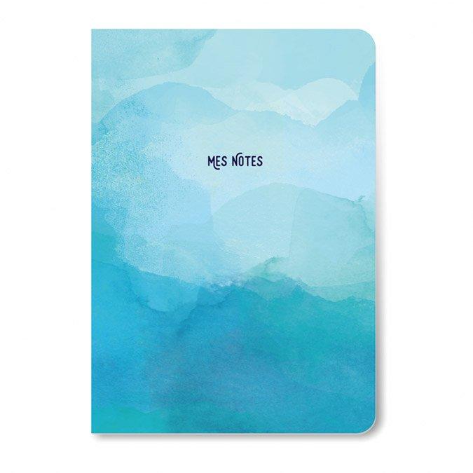 Carnet de notes bleu - 64 pages lignées - A5