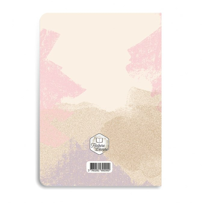 Carnet de dessins rose - 48 pages blanches  - A5