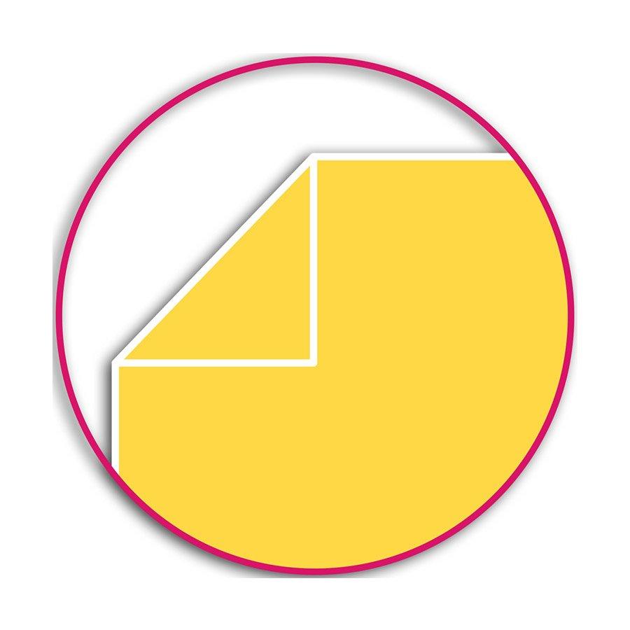 Carnet bicolore jaune / fuchsia - 10 x 15 cm