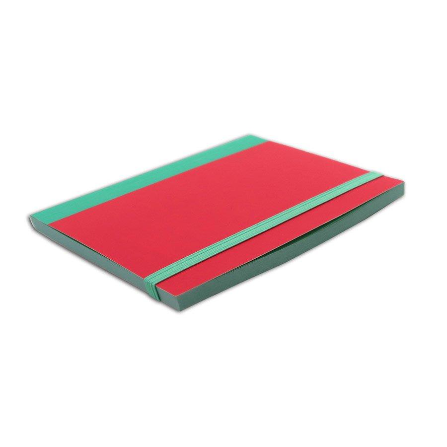 Carnet bicolore menthe / corail - 10 x 15 cm