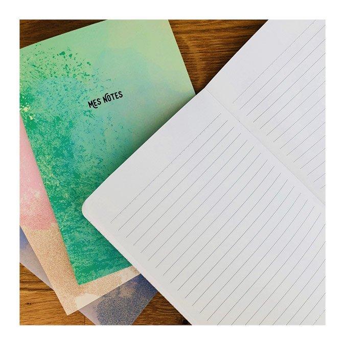Carnet de notes rose - 64 pages lignées - A5