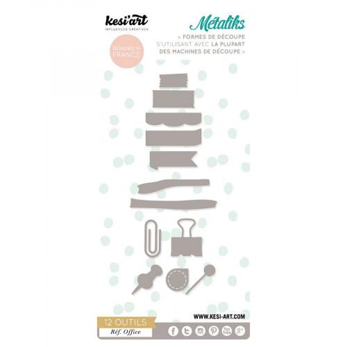 Métaliks - Formes de découpe - Office - 12 pcs