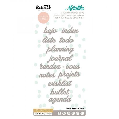 Métaliks - Formes de découpe - Bullet Journal - 12 pcs