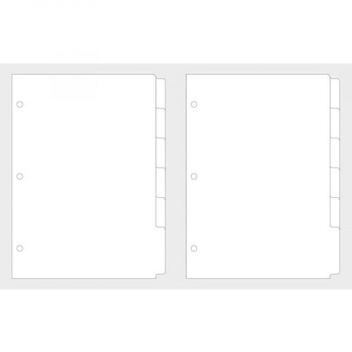 Pages registre pour planner blanches - A5