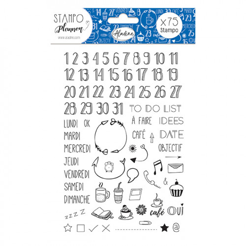Stampo Planner Chiffres - 75 tampons