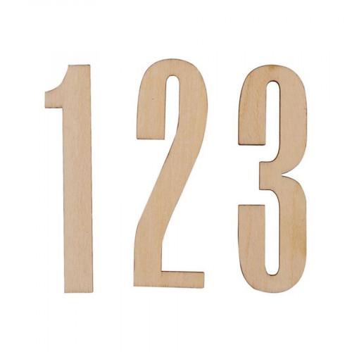 Chiffres en bois - 5 cm - 10 pcs