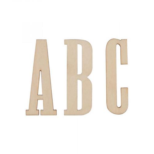 Lettres en bois - 5 cm - 26 pcs