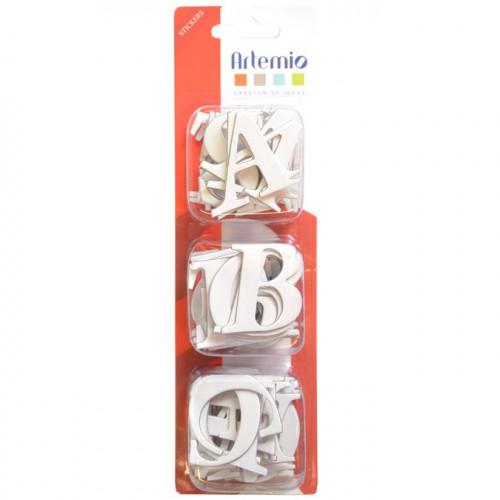 Lettres majuscules en chipboard autocollantes - 4 cm - 60 pcs
