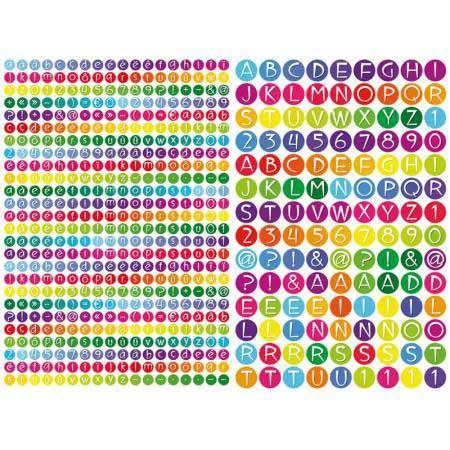 Gommettes alphabet - 594 pcs