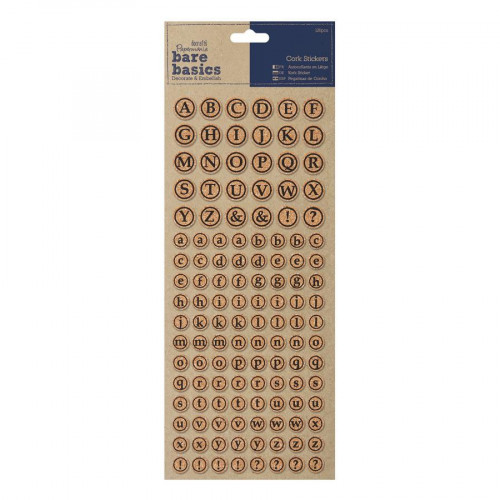 Bare Basics - Cork Stickers - Alphabet - 126 pces