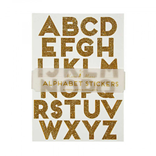 Alphabet stickers - Or - 10 pcs
