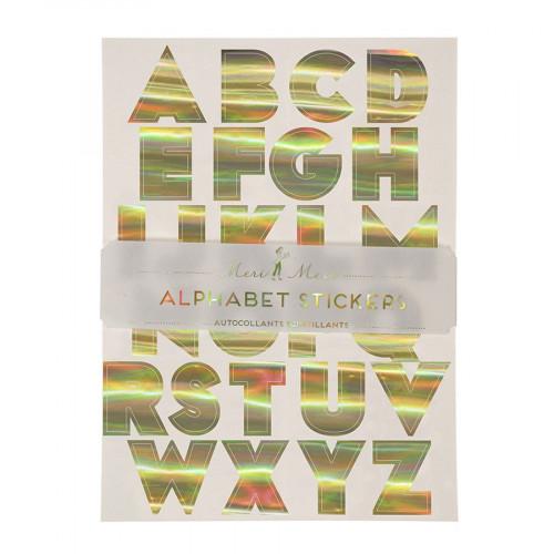 Alphabet stickers - Dorés - 10 pcs